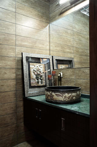 中式风装修洗手台设计
