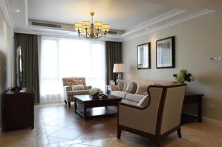 170平美式风格装修客厅搭配图