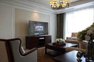 170平美式风格装修电视背景墙图片