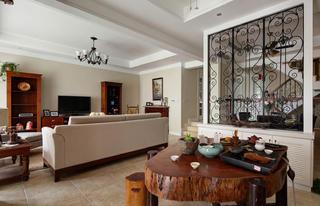 美式风格别墅设计茶桌图片