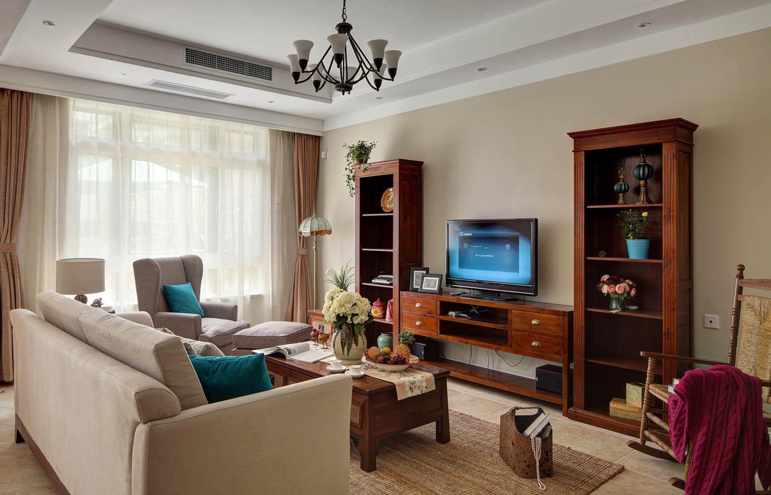 美式风格别墅设计电视背景墙图片