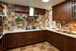 美式风格别墅设计厨房构造图