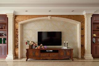 170平欧式风装修电视背景墙设计