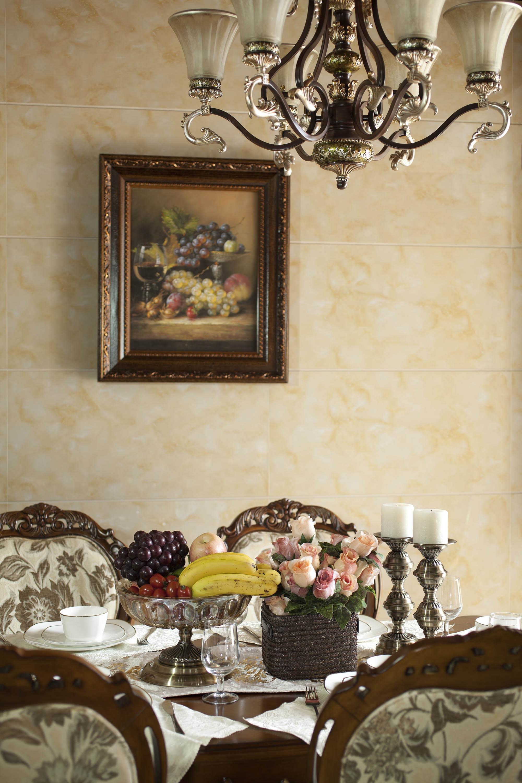 170平欧式风装修餐厅背景墙图片