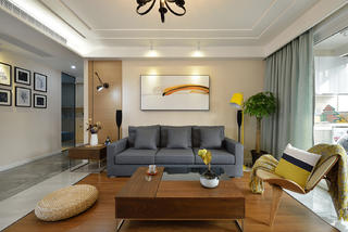 四居室简约装修沙发背景墙图片