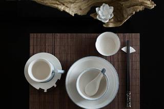 新中式装修餐具特写