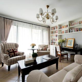三居室美式装修设计 一缕清风