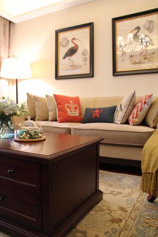 现代美式三居沙发图片