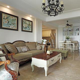 110㎡三居室美式装修设计图