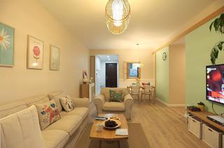 100平日式风格家客厅设计图