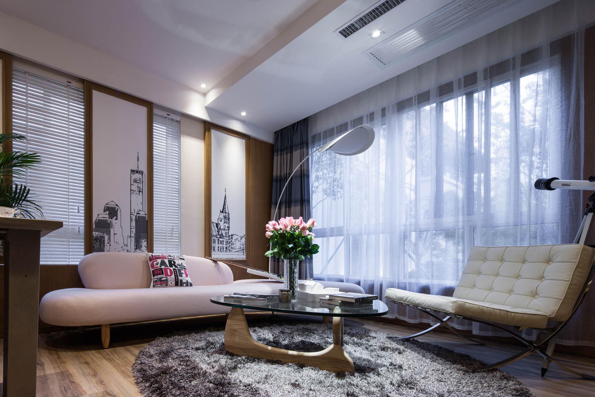70平二居装修客厅效果图