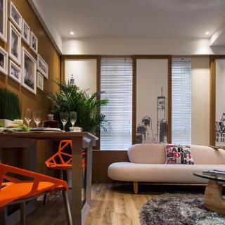 70平二居装修效果图 个性时尚