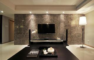 現代簡約三居電視背景墻設計