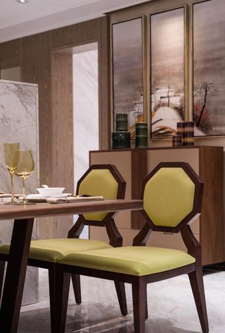 95平现代中式家装修餐椅特写