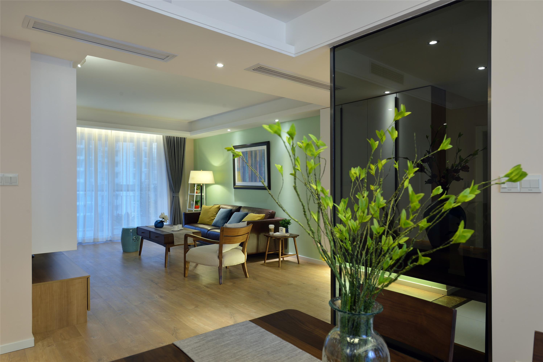 三居室现代简约家绿芽装饰
