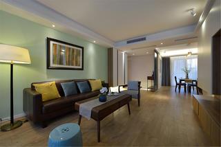 三居室现代简约家沙发背景墙图片