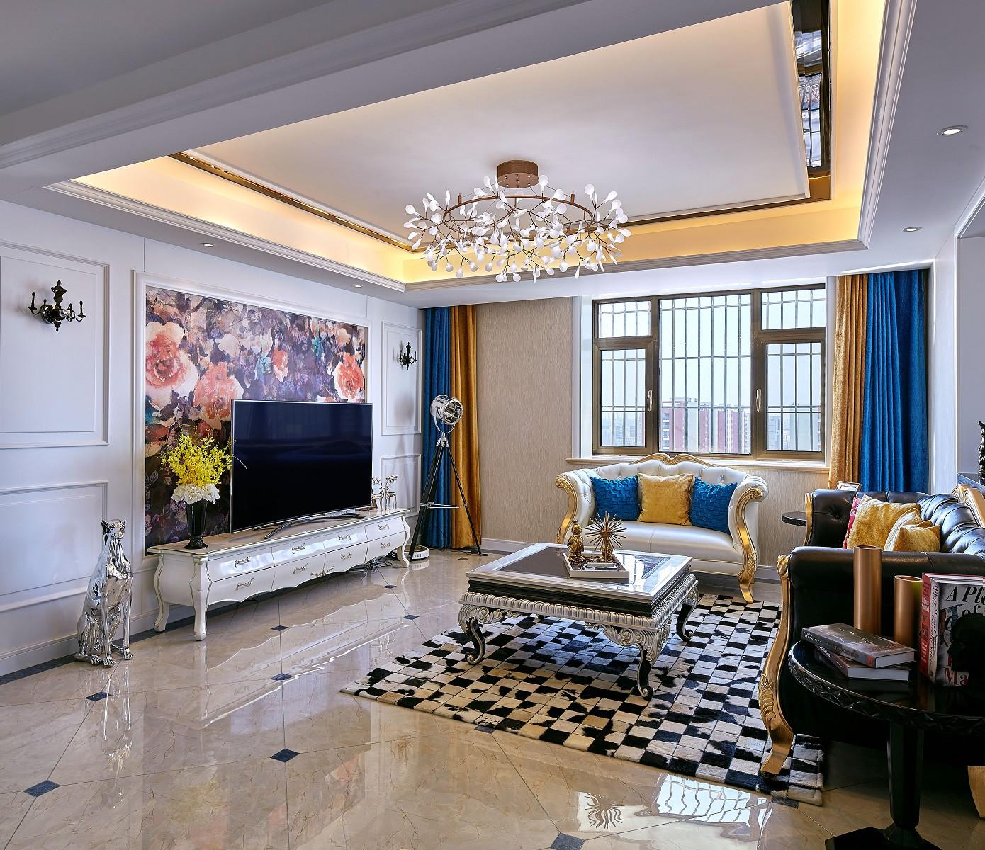 180平复式装修客厅效果图