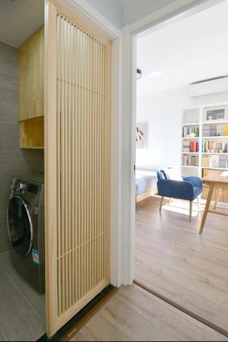 80平日式风格家格栅隔断设计