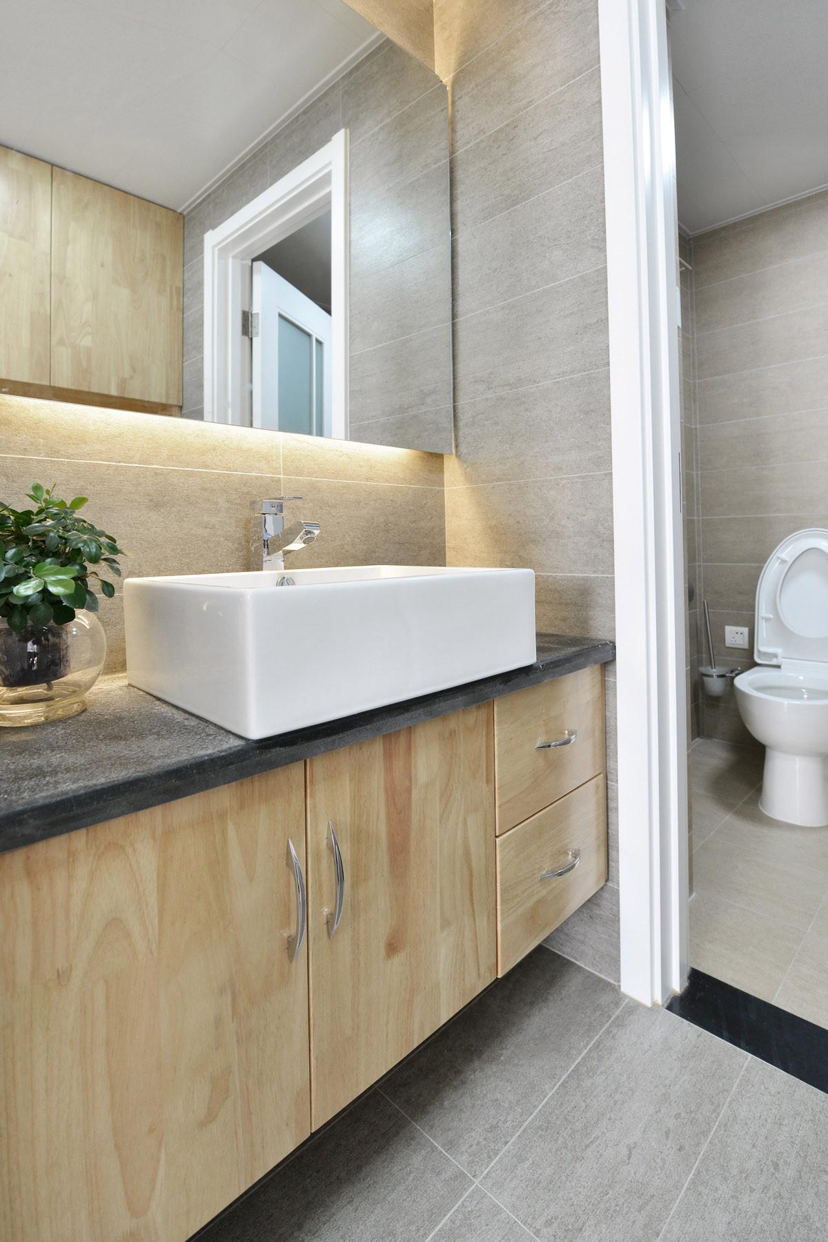 80平日式风格家浴室柜图片
