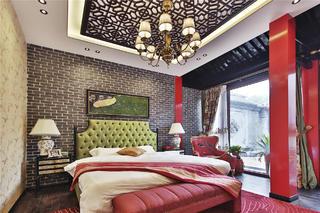 新中式四合院设计卧室效果图