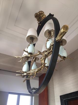 新中式别墅装修吊灯设计