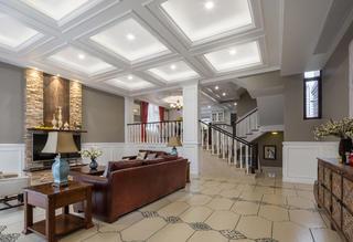 美式别墅客厅吊顶设计