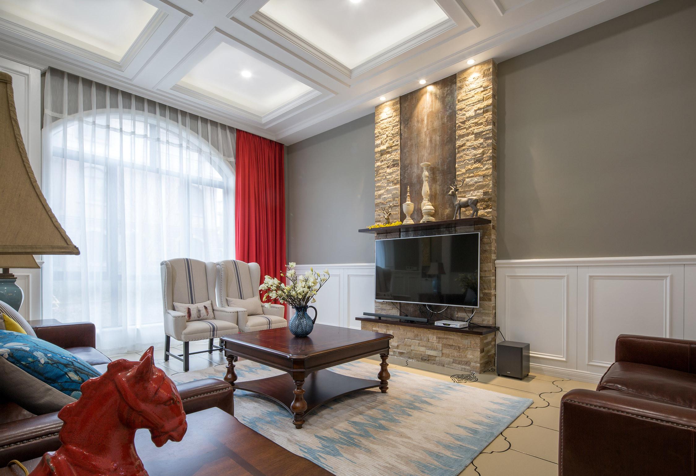 美式别墅设计客厅搭配图