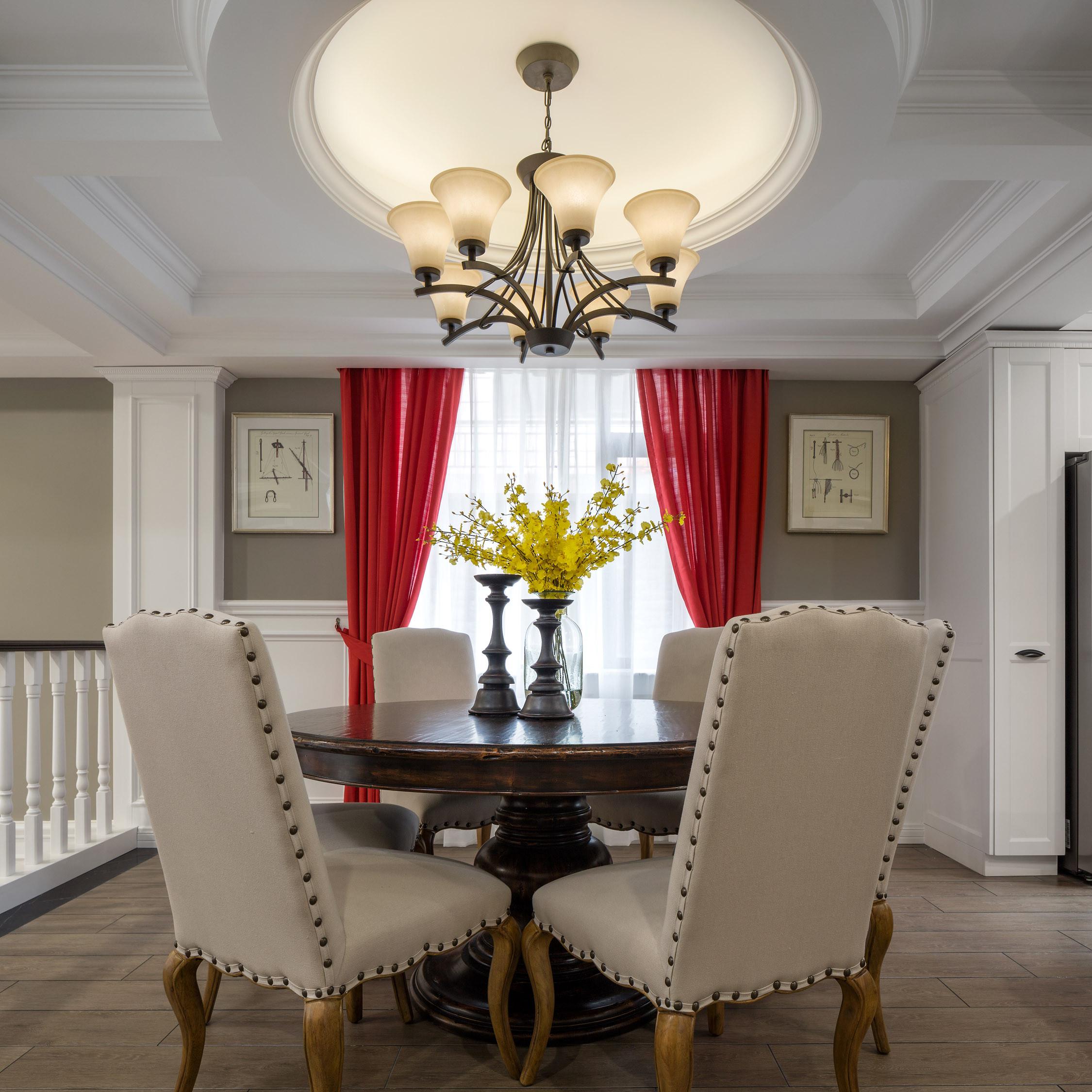 美式别墅设计餐厅搭配图