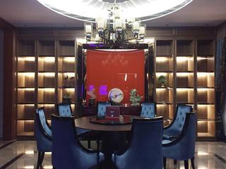 新中式别墅装修餐厅背景墙设计