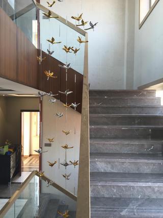 新中式别墅装修楼梯空间装饰