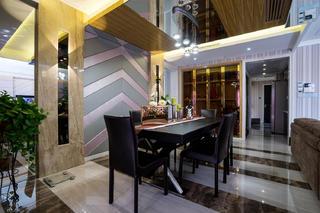 140平混搭四居室装修餐厅设计图