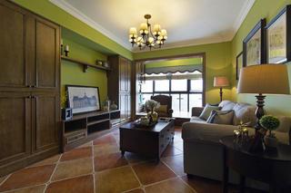 二居室美式装修客厅设计图