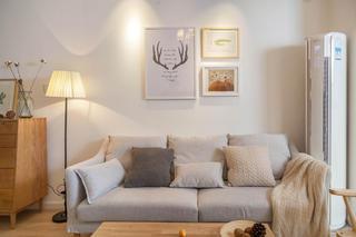 三居室北欧风之家沙发背景墙图片