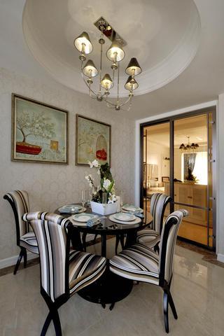 140平新古典样板间装修餐厅设计图