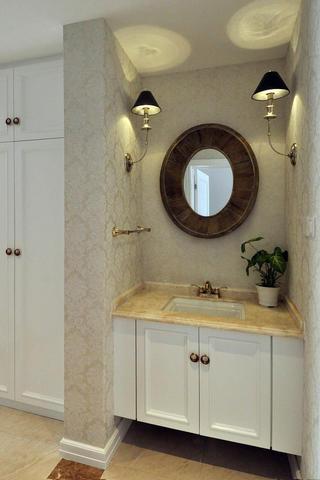140平新古典样板间装修洗手台图片