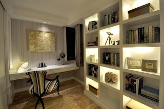 140平新古典样板间装修书房设计图