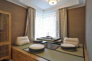 新中式样板间装修榻榻米茶室设计