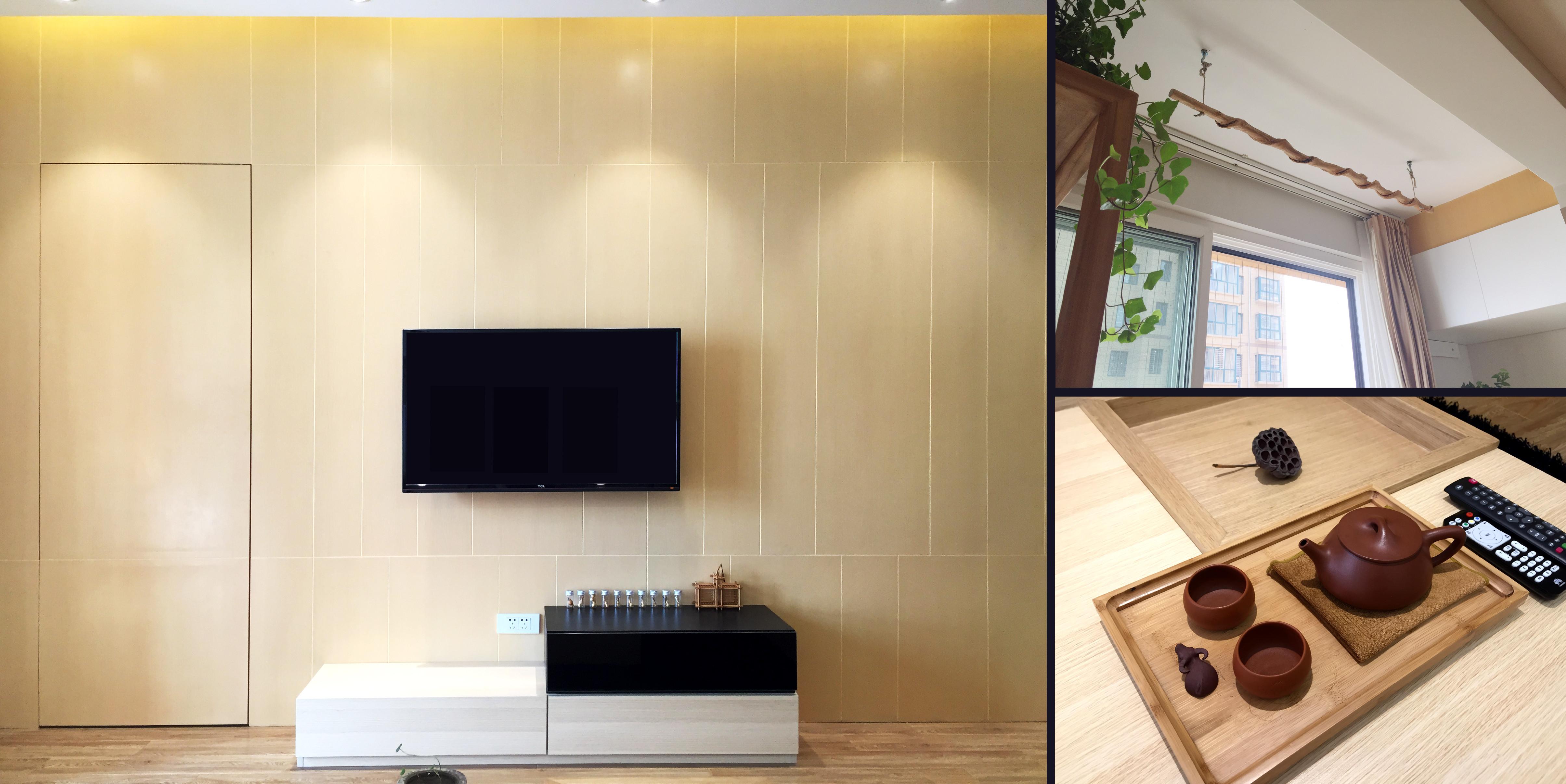 简约二居装修电视背景墙图片