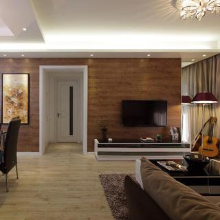 90平现代简约二居装修设计图
