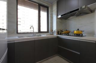 90平现代简约二居装修厨房参考图