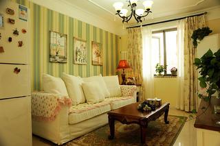 田园风格二居客厅设计图