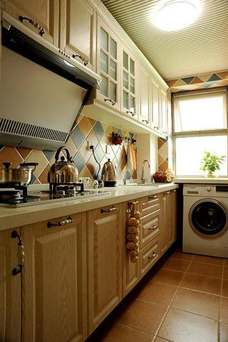 田园风格二居厨房构造图