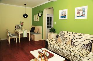 90平田园风格家沙发背景墙图片