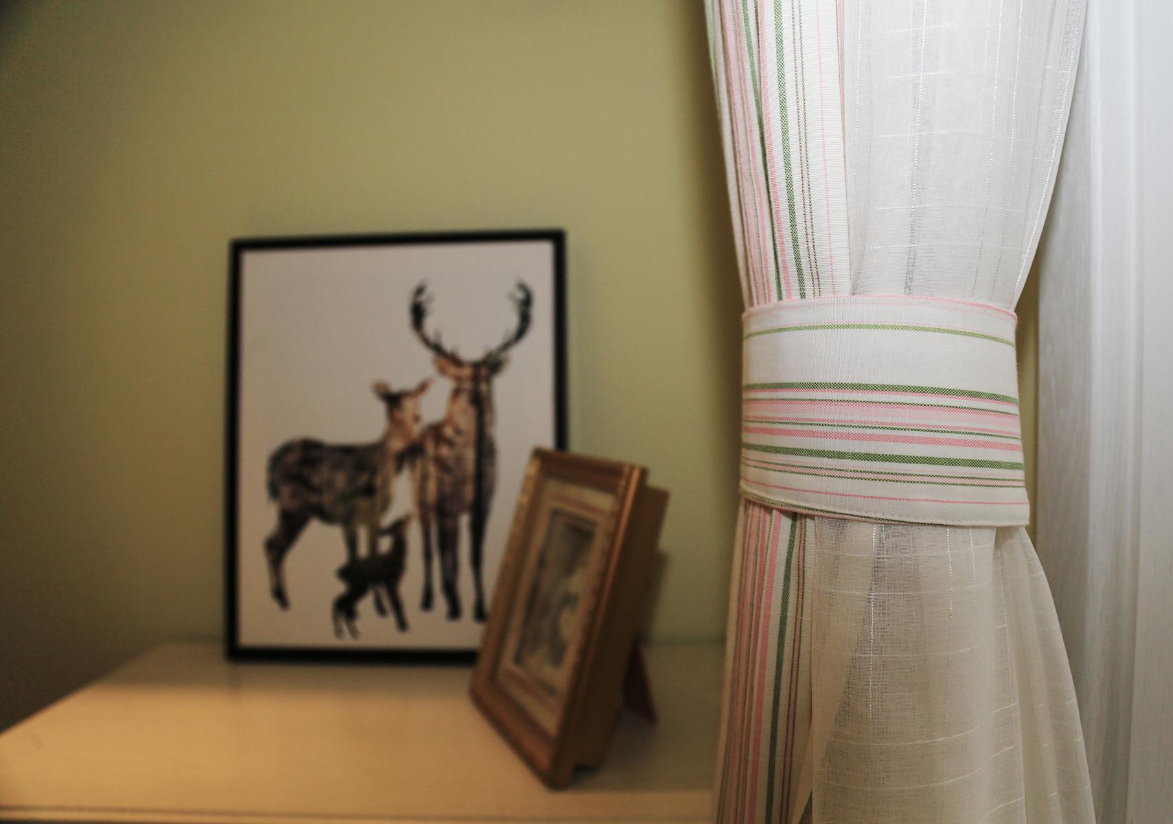 90平田园风格家窗帘图片
