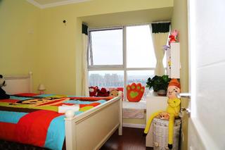 90平田园风格家儿童房设计图