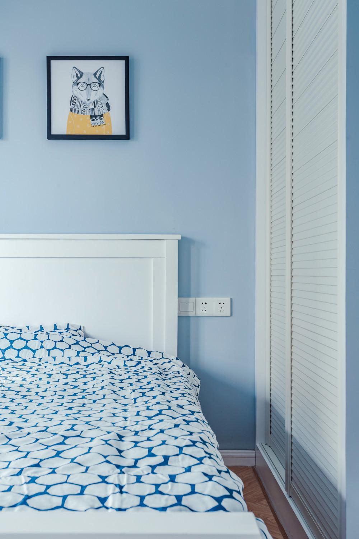 三居室北欧风之家床品图片
