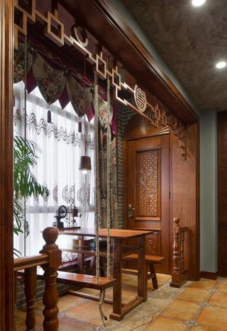 大户型中式风格装修阳台设计图