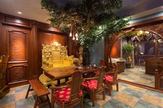 大户型中式风格装修茶室布置图
