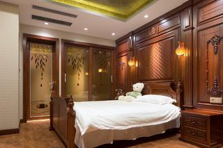 大户型中式风格装修卧室布置图