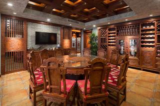 大户型中式风格装修餐厅效果图